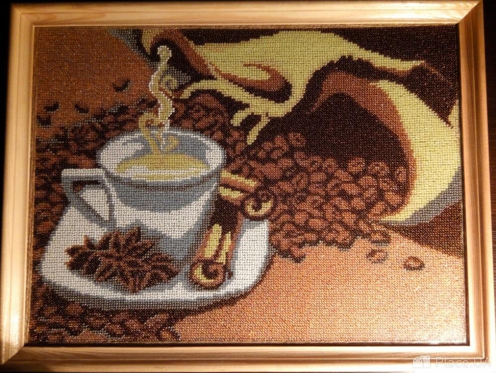 Алмазная вышивка кофейная тема 30