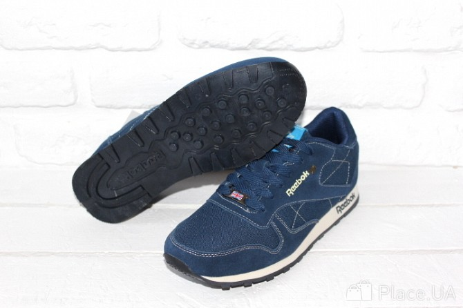 Мужские кроссовки Reebok Classic синие и коричневые Харьков - изображение 8 154b495c8ce01