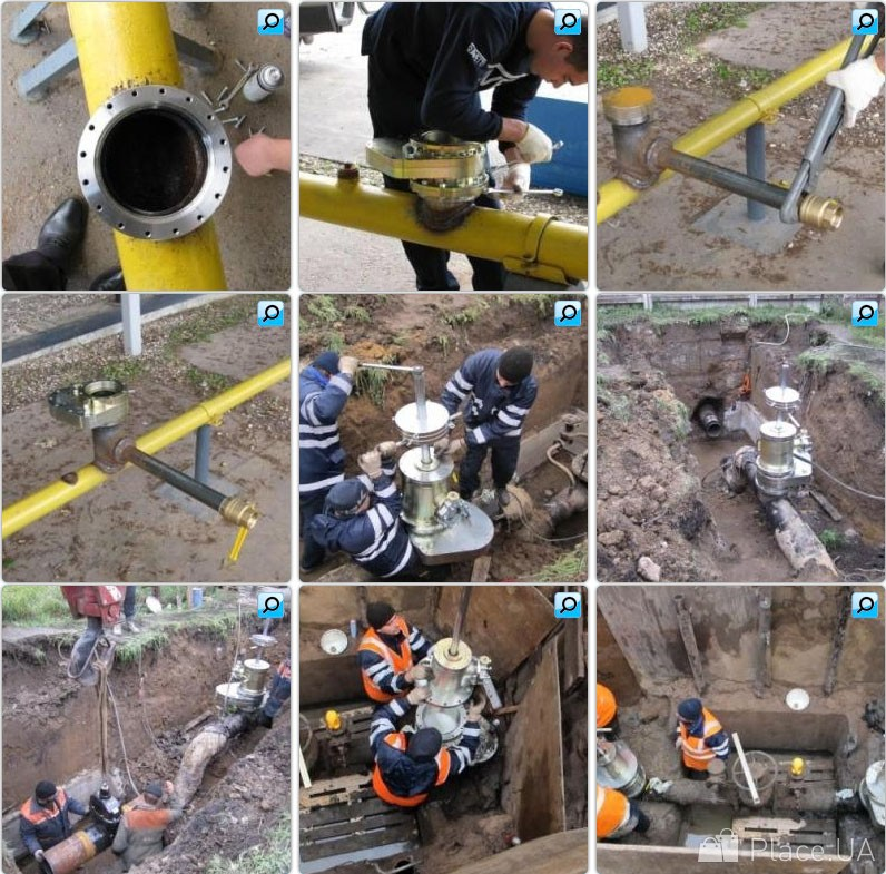 Врезки в действующие газопроводы