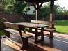 Стол из дерева. Лавка из дерева. Садовый комплект. Мебель на дачу. Стол на дачу. Киев