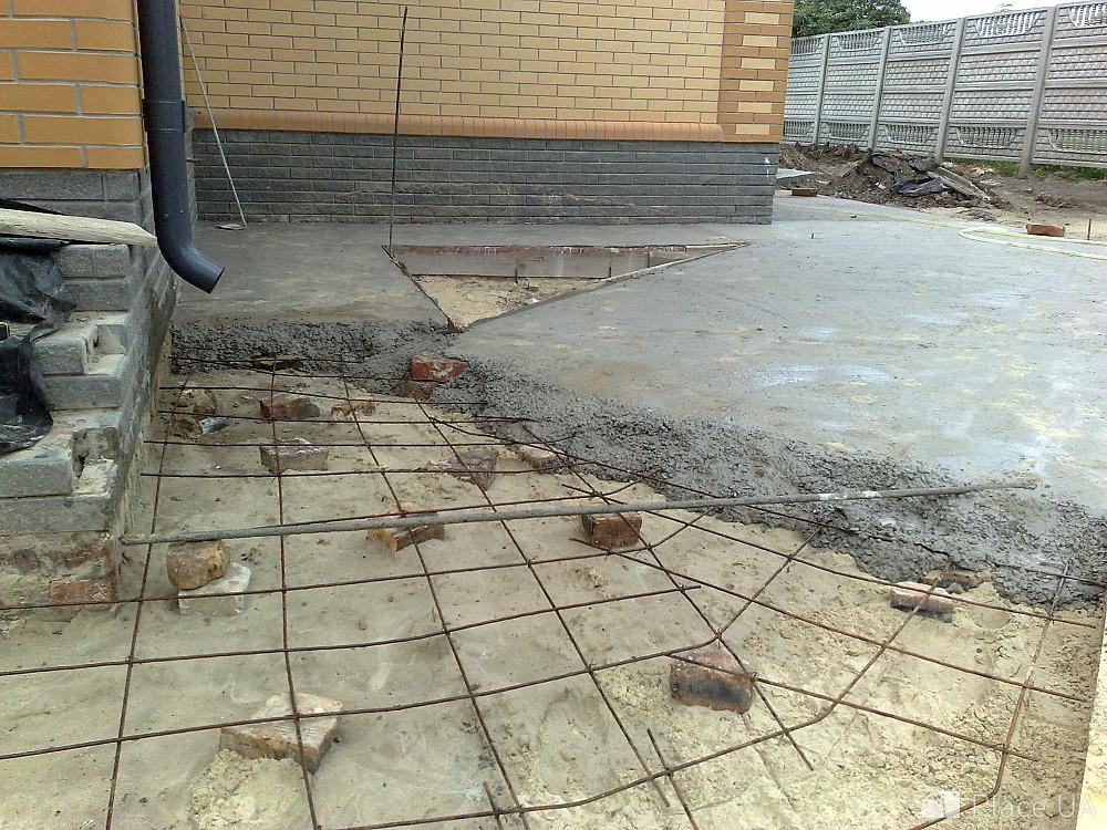 бетонная стяжка на участке