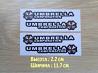 Наклейки на ручки авто Umbrella corporation 4 шт доставка из г.Киев