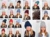 Зимние вязаные шапки с флисовой подкладкой для девочек доставка из г.Киев