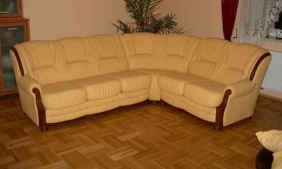 Кожаный угловой диван Milano