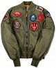 Top Gun MA-1 Nylon Bomber Jacket with Patches доставка из г.Луцк