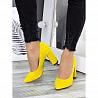 Туфли на каблуке лимон замша 7283-28 доставка з м. Дніпро (Дніпропетровськ)