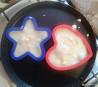 Силиконовые формочки для яичницы в виде сердечка и звездочки. Мелитополь