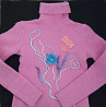 Теплый гольф водолазка свитер шерстяной с аппликацией, S, 36 доставка из г.Киев