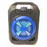 Портативная колонка мини-чемодан бумбокс B326 с USB, SD, FM, AUX, Bluetooth и светомузыкой Геническ