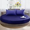 Простирадло на кругле ліжко, Синє модель 2 доставка из г.Киев