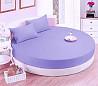 Круглая кровать. Простынь модель 2 сирень доставка из г.Киев