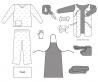 Комплект одежды противоэпидемический № 1, не/стерильный доставка из г.Киев