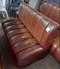 Кожаный диван б/у коричневого цвета доставка из г.Киев