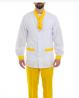 Медицинский мужской костюм белый с желтым Киев