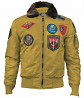 Бомбер Top Gun Official B-15 Men's Flight Bomber Jacket With Patches (wheat) доставка из г.Киев