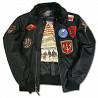 Бомбер Top Gun Official B-15 Men's Flight Bomber Jacket With Patches (black) доставка из г.Львов