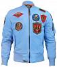 Мужская ветровка Top Gun MA-1 Lightweight Nylon Bomber Jacket With Patches (light Blue) доставка из г.Запорожье
