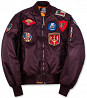 Бомбер Top Gun MA-1 Nylon Bomber Jacket with Patches (бордовый) доставка из г.Винница