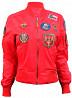Оригинальный женский бомбер Miss Top Gun MA-1 jacket with patches (red) доставка из г.Ивано-Франковск