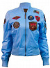 Женский бомбер Miss Top Gun MA-1 jacket with patches (голубой) доставка из г.Одесса