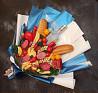 Мужской съедобный букет с колбасками и алкоголем Хортица (цена без учета алкоголя) в Днепре Днепр