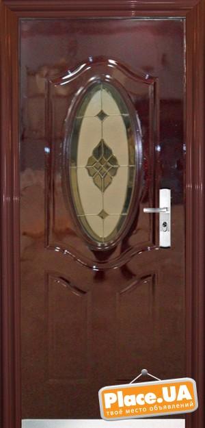 входные двери со стеклом 960 на 2050