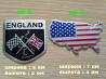 Наклейки на авто Флаг Англии, США алюминиевые доставка из г.Киев
