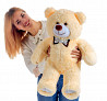 Большой плюшевый медведь Мистер 85 см (бежевый) Киев
