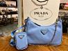Prada Re-Edition 2005 Nylon Mini Shoulder Bag Astral Blue Киев