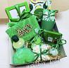 Подарочный бокс на день рождения в зеленом цвете. доставка из г.Одесса