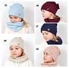 Девочкам шапка и хомут, трикотажный комплект, модель 041 доставка из г.Киев