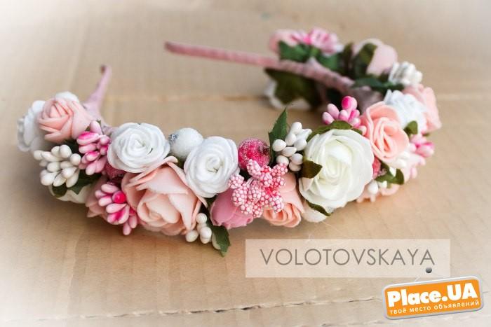 ободки с цветами своими руками из фоамирана