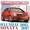 Запчасти кузова Hyundai Sonata 2015, 2016, 2017 . Оптика на Хендай Соната доставка из г.Одесса